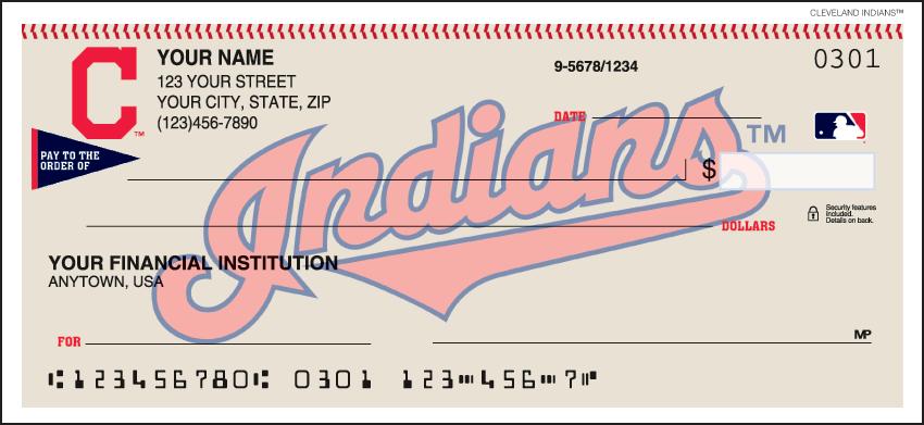 Cleveland Indians MLB Personal Checks - 1 Box - Duplicates