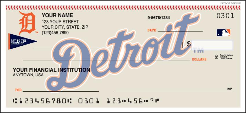 Detroit Tigers MLB Personal Checks - 1 Box - Duplicates