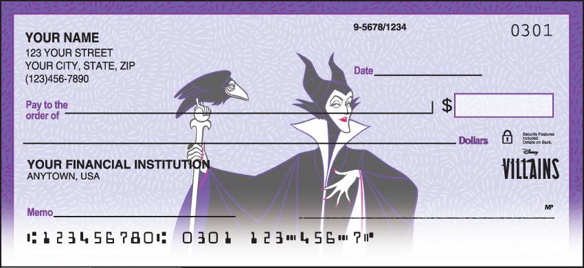 Disney Villains Disney Personal Checks - 1 Box - Duplicates