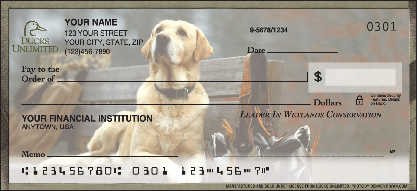 Ducks Unlimited Charitable Personal Checks - 1 Box - Singles