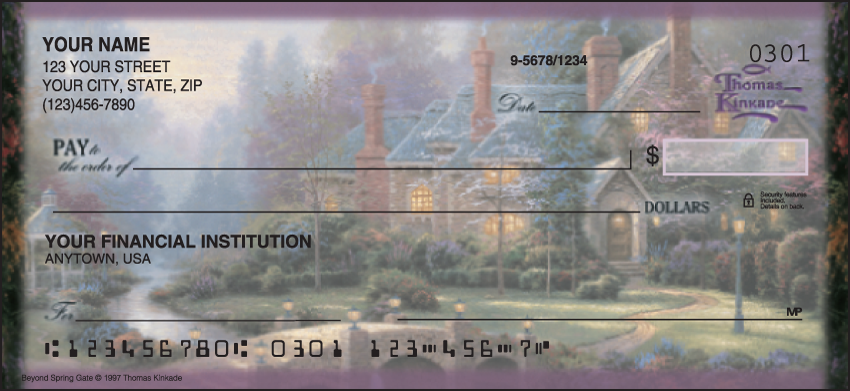 Image of Quiet Escapes Thomas Kinkade Checks