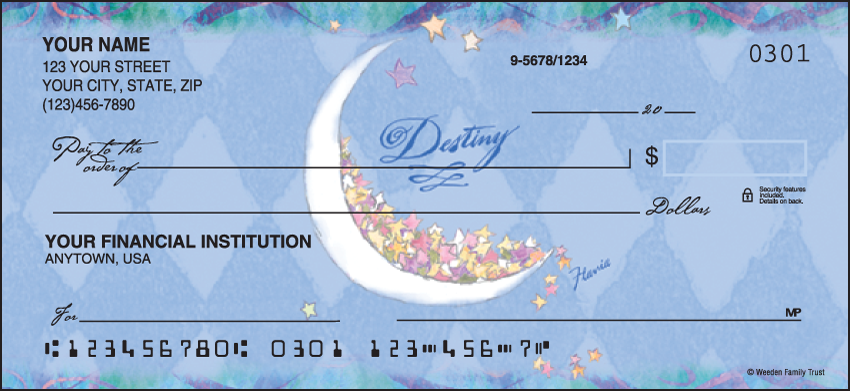 Flavia Celestial Cute Personal Checks - 1 Box - Duplicates