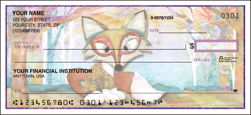 Forest Friends Animal Personal Checks - 1 Box - Duplicates