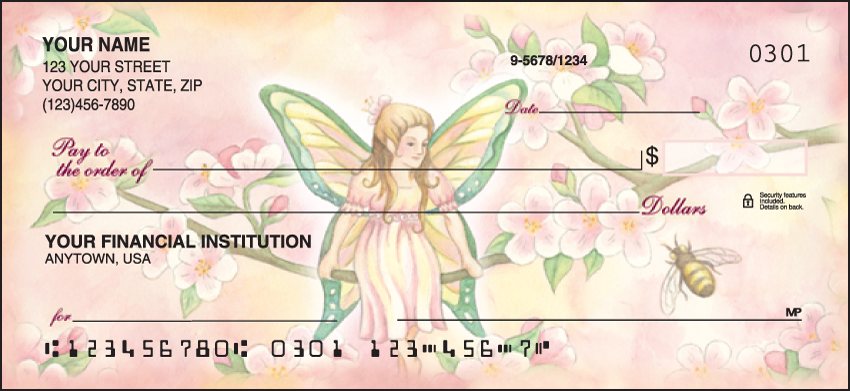 Garden Fairies Cute Personal Checks - 1 Box - Singles