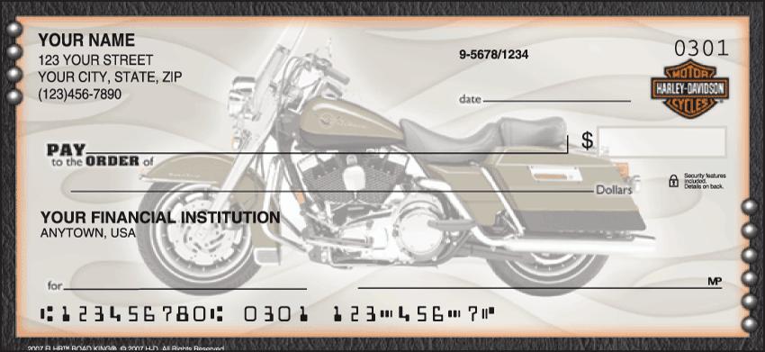 Harley-Davidson Motorcycle Personal Checks - 1 Box - Singles