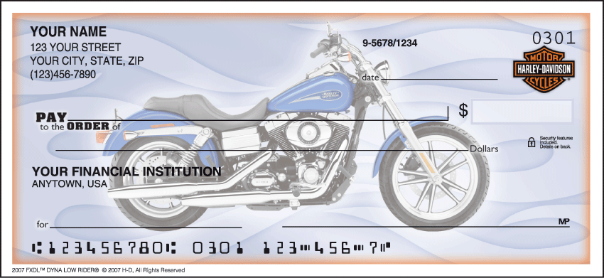 Harley-Davidson Motorcycle Personal Checks - 1 Box - Singles