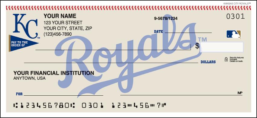 Kansas City Royals MLB Personal Checks - 1 Box - Duplicates