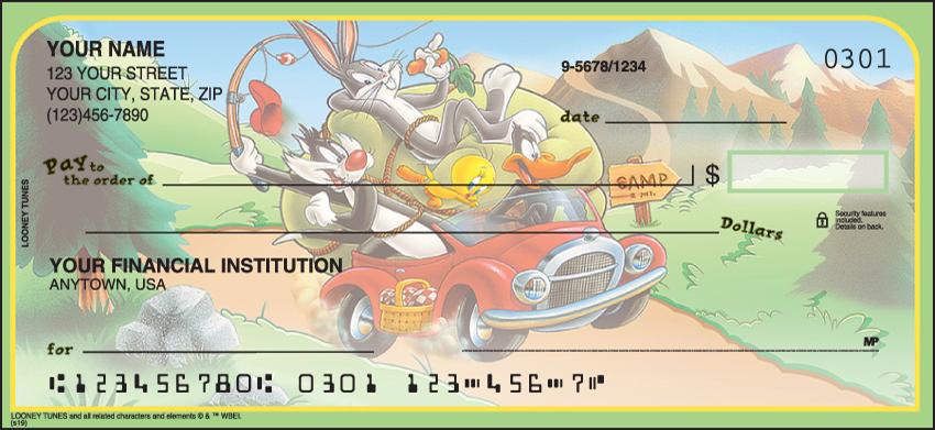 Looney Tunes Cartoon Personal Checks - 1 Box - Duplicates