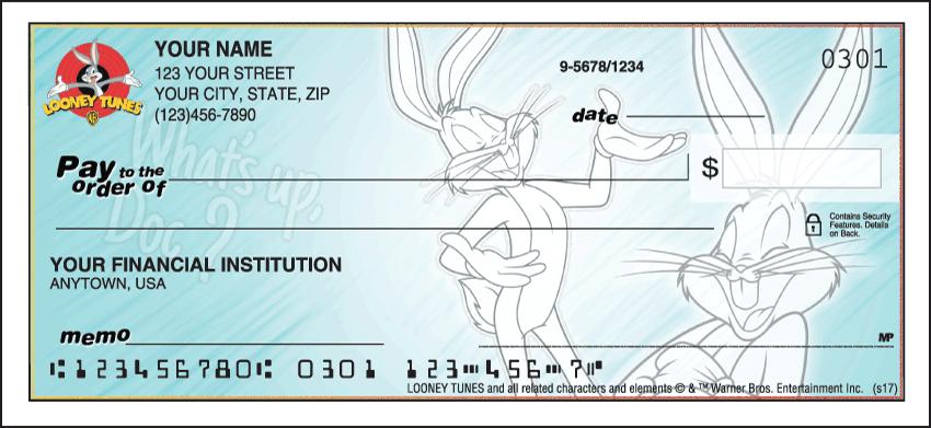 Looney Tunes II Cartoon Personal Checks - 1 Box - Duplicates