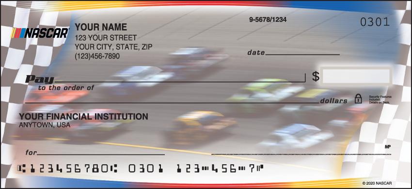 NASCAR Racing Personal Checks - 1 Box - Duplicates