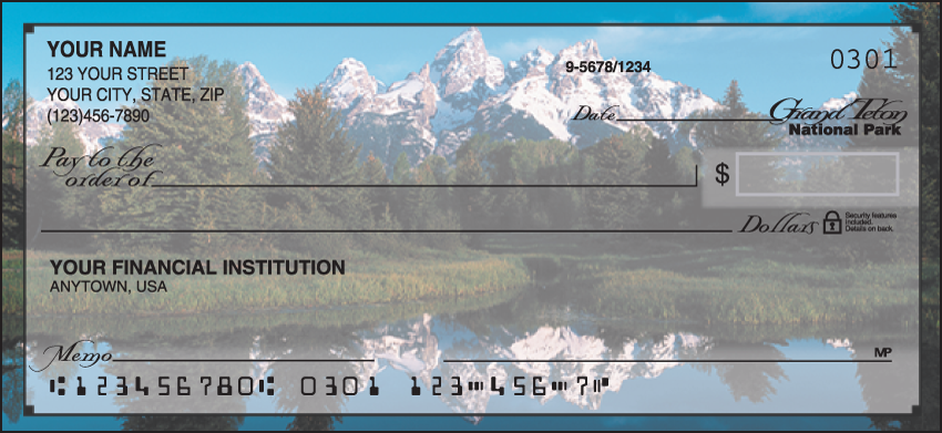 National Parks Scenic Personal Checks - 1 Box - Duplicates