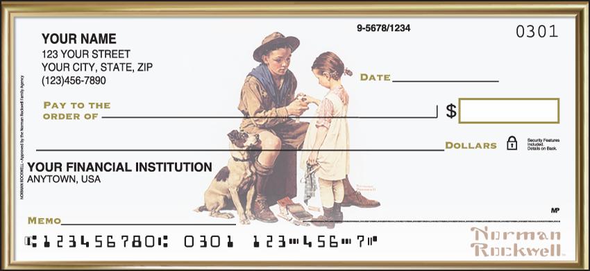 Norman Rockwell Inspirational Personal Checks - 1 Box - Singles