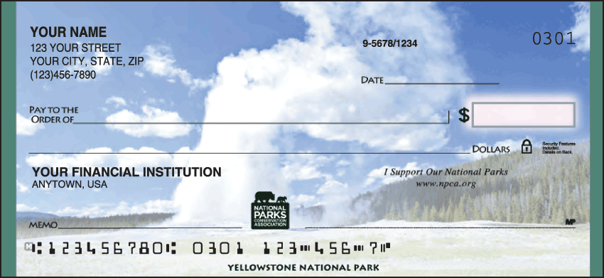 National Parks Conservation Association Scenic Personal Checks - 1 Box - Singles