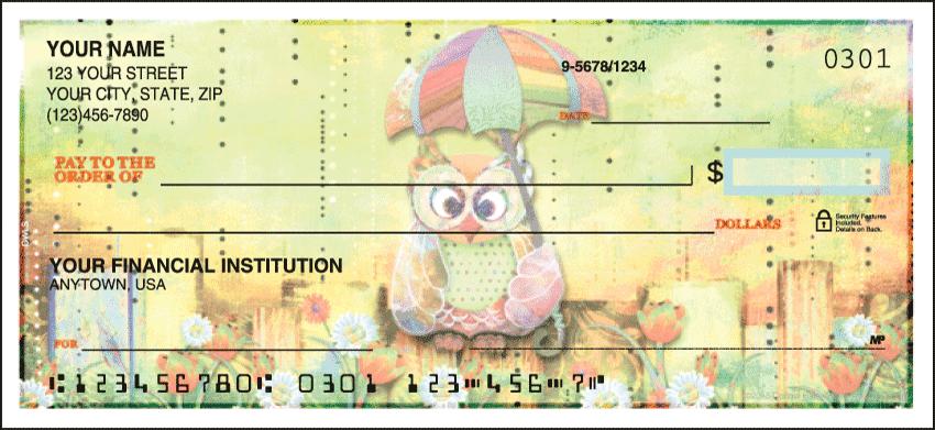 Owls Animal Personal Checks - 1 Box - Duplicates