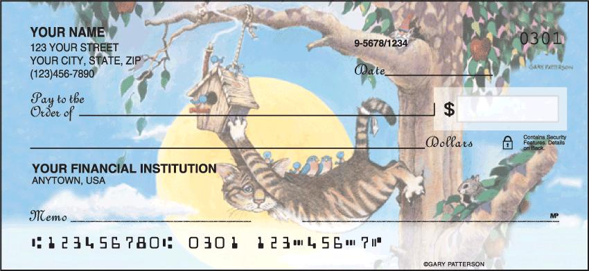 Gary Patterson Cats Animal Personal Checks - 1 Box - Singles