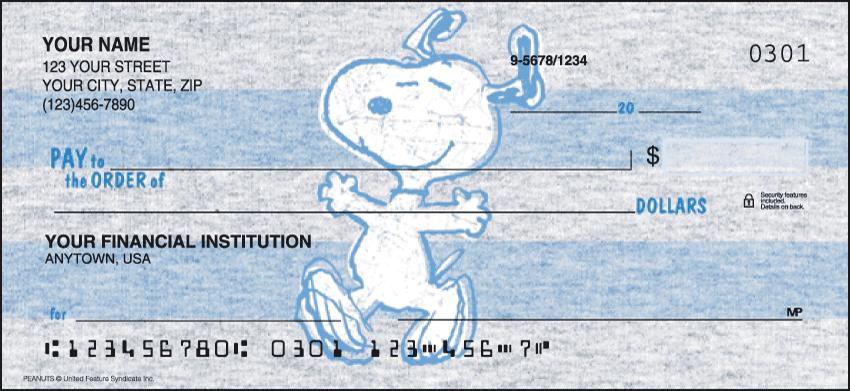 Peanuts Cartoon Personal Checks - 1 Box - Singles