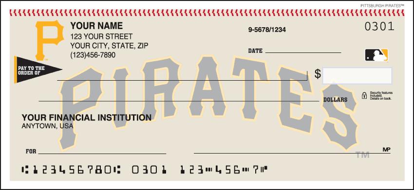 Pittsburgh Pirates MLB Personal Checks - 1 Box - Duplicates