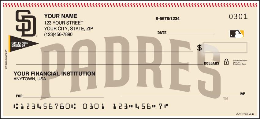 San Diego Padres MLB Personal Checks - 1 Box - Singles