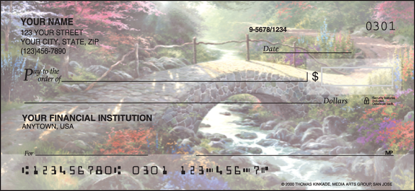 Image of Serenity Thomas Kinkade Personal Checks