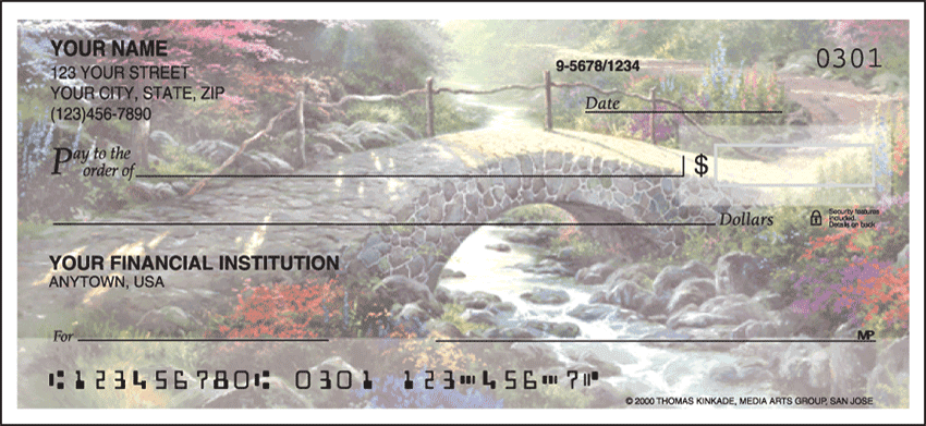 Image of Serenity Thomas Kinkade Side Tear Personal Checks