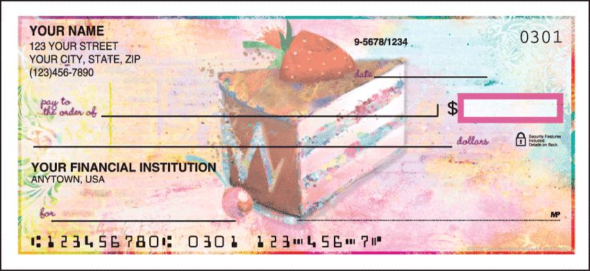 Sweet Morsels Cute Personal Checks - 1 Box - Singles