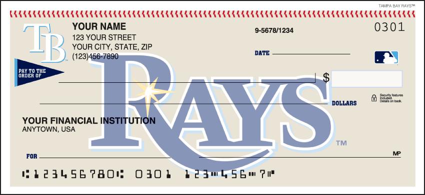Tampa Bay Rays MLB Personal Checks - 1 Box - Duplicates