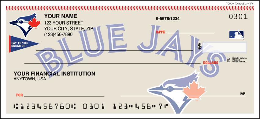 Toronto Blue Jays MLB Personal Checks - 1 Box - Duplicates