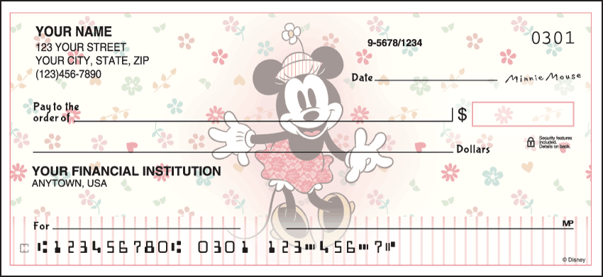 Vintage Minnie Disney Personal Checks - 1 Box - Singles