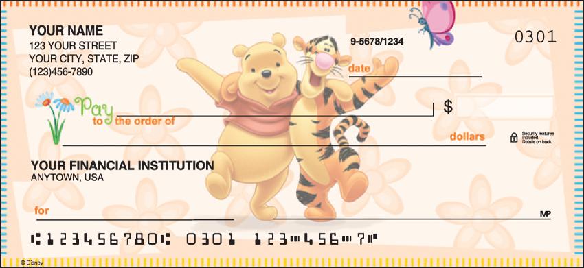 Winnie the Pooh Disney Personal Checks - 1 Box - Singles
